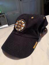 NHL Boston Bruins Embroidered 47 Brand Adjustable Cap Hat Black OSFA Brim