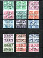 DDR - Briefmarkensatz - Sozialistischer Aufbau - Kleinformat - 15 Viererblocks