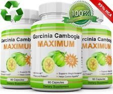 3X Pack GARCINIA CAMBOGIA 95% HCA 3000mg Daily Weight Loss Diet Pills Fat Burner