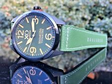 XO Retro Actual DNA Metal from P-51 Mustang Vintage WWII 44mm Green Plane Watch