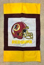 "New listing Washington Redskins Football Applique Banner Flag, 22"" x 36"", Euc"