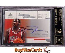 2003-04 Michael Jordan Upper Deck SP Signatures Edition on Card Auto #MJ BGS 10