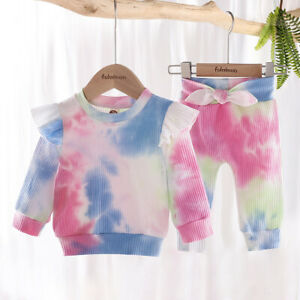 3-4 Years Baby Girls Tops Romper Bodysuit Jumpsuit Pants Outfits Clothes Set