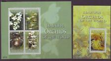 CARRIACOU  GRENADA 2008 ORCHIDS  SHEETLET 4 + MINISHEET Part 2  MINT NEVERHINGED