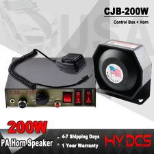 8 Sound 200W Loud Car Warning Alarm Police Fire Siren Horn PA Speaker MIC System