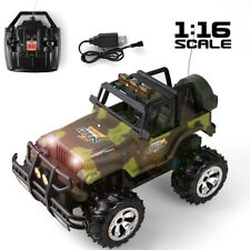 1:16 Electric RC Car Remote Control High Speed Off-Road Jeep W/ Lights Kids Toy