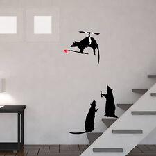 Banksy Helicopter Rat Paintbrush Home Decor Reusable Art Craft Ideal Stencils