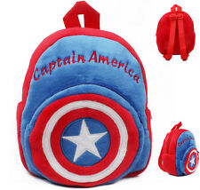 Para Niños Niños Mochila Mochila Bolso Peluche guardería Capitán América