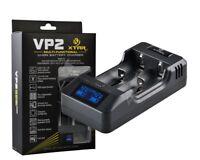 XTAR VP2 Li-Ion 2-Schacht Ladegerät 3,2V 3,6V & 3,8V, Powerbank Funktion