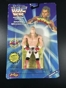 SHAWN MICHAELS HBK WWF Justoys Bend Ems MOC Vintage Wrestling Figure WWE *READ*