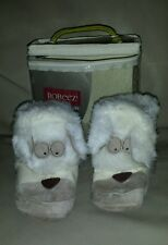 Robeez Infant Tan Suede Soft Sole Baby Booties Puppies - Cute!  EUC!!!