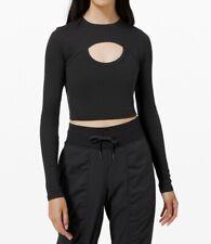 NWT LULULEMON LA Better Best Long Sleeve Crop Top Size 6 Black