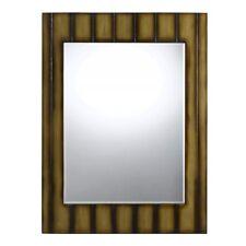 "Cal Lighting Clovis 36"" Tall Poly Urethane Mirror, Teak - Wa-2171Mir"