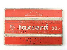 Taxcard PTT Suisse Rouge 1986 - 20 Francs- Verso Noir