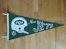 "Dated 1967 NEW YORK JETS 30"" Pennant w/ Tassels JOE NAMATH"
