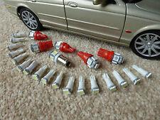 Jaguar XJS <1991 Complete Dash Instrument LED Bulb Set Upgrade Red