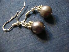 Silver Real Pearls Earrings Grandmas Estate 925 Sterling