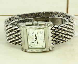 INVICTA DIAMOND CUADRO 9790 quartz stainless chronograph wristwatch, 50 diamonds