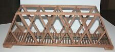 "On30 Gauge handmade cherry thru truss bridge 23 3/8"" long USA"