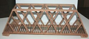 "On30 Gauge handmade cherry thru truss bridge 23 3/8"" long USA"