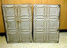 Sale 2 Antique Ceiling Tin Tile Simple & Elegant Pie Cupboard Doors Cottage Chic