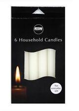 "Pillar Dinner Household Everdays White Candles 18cm Tall 16mm Wide 6"""" x 6"""""""