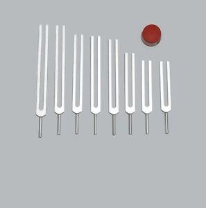 High Quality 8pc Fibonacci Tuning Forks Sound Healing Machine Made
