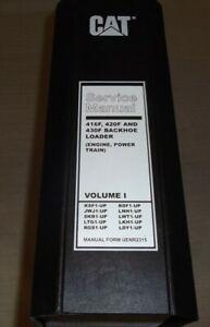 CAT CATERPILLAR 416F 420F 430F BACKHOE LOADER SERVICE SHOP REPAIR MANUAL BOOK V1