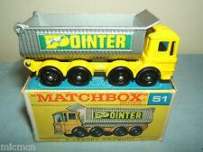 MATCHBOX  LESNEY NO.51c AEC MAMMOTH MAJOR TIPPER  VN MIB