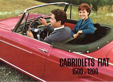 Fiat 1200 & 1500 Cabriolet 1959-60 French Market Foldout Sales Brochure