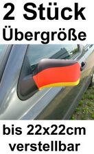 XXL plus Size Adjustable 2x Spiegelfahne Car Mirror Germany World Cup Flag Flag