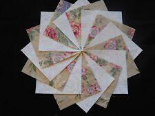 30 4x4 Beige Quilt Fabric Squares~4053
