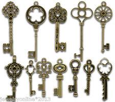 24 Mix Bronzefarben Schlüssel Charms Anhänger 33x13mm-6.9x2cm Top