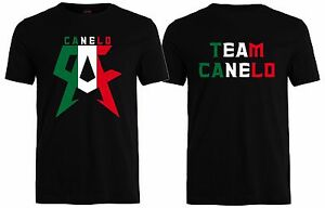 🔥 TEAM CANELO Mens T shirt Mexico flag Saul Alvarez Boxing Champ Inspired