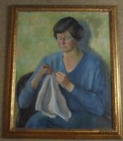 MARGARET CHRYSTIE SIGNED ORIGINAL OIL PAINTING OF WOMAN