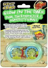 Zoo Med Hermit Crab Dual Thermometer & Humidity Gauge Glow in the Dark Precise