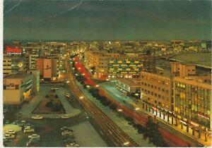 KUWAIT old P.C. Showing Fahd Al-Salem Street at Night 1960s
