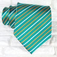 Cravatta uomo seta verde Jacquard Made in Italy business / matrimoni