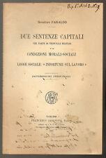 1895 - TORINO – SENTENZE CAPITALI E ALTRO