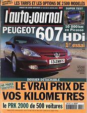L'AUTO JOURNAL n°534 du 27/01/2000 Peugeot 607 HDI Citröen Picasso