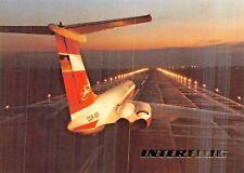 INTERFLUG IL-62/ Start Airline Airplane Postcard