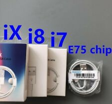 100% GENUINE APPLE IPHONE 7/ 6/6Plus /5s /5 LIGHTNING USB CHARGER CABLE E75 Chip