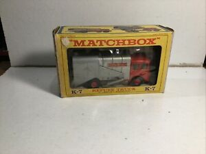 Matchbox King Size K7 Refuse Truck Within Its Original in Box
