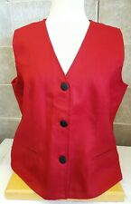 Hilana 100% Wool Women's Red Vest from Ecuador Size L