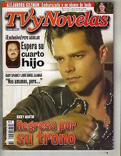 RICKY MARTIN Spanish TV y Novelas Magazine 4/12/03 ALEJANDRA GUZMAN