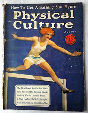 Aug 1925 Physical Culture Magazine Woman Hurdle Jumper Health Beauty Fitness