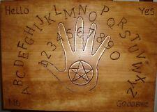 "hand made wooden ouija spirit talking board ""hand"""