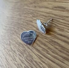 Tiffany & Co Return To Sterling Silver Heart Stud Earrings