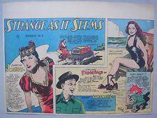 Strange As It Seems: Geraldine Fitzgerald, Jimmy Durante by Hix 5/27/1945