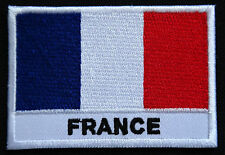 Ecusson patch brodé thermocollant drapeau France Bleu Blanc Rouge